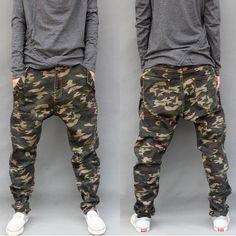 Camouflage Jeans Mens 2015 New Fashion Camo Harem Jeans Drop Crotch Plus Size S M L XL 2XL 3XL 4XL 5XL 6XL => Price : $38.50
