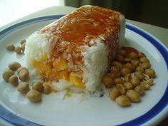 Rosca (molde) de jícama con mango | Madeleine Cocina