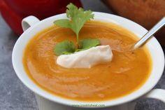 Σούπα με κόκκινη πιπεριά και γλυκοπατάτα Pudding, Desserts, Food, Tailgate Desserts, Deserts, Custard Pudding, Essen, Puddings, Postres