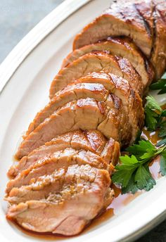 Easy! Pork tenderloin marinated in orange marmalade sauce, grilled and then glazed with more sauce. So good! On SimplyRecipes.com