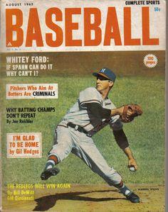 1962, (Aug.) Complete Sports, Baseball Magazine, Warren Spahn, Milwaukee Braves