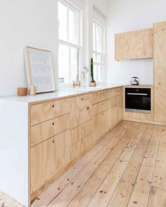 Minimal white and rough wood kitchen interior. Flinders Lane Apartment by Clare Cousins Architects Küchen Design, Wood Design, House Design, Design Ideas, Design Hotel, Design Interiors, Modern Interiors, Design Color, Design Trends