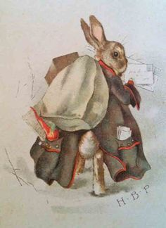 Rabbit by Beatrix Potter postman card