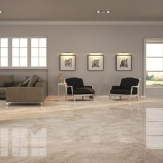 Nugarhe large floor tiles are available in a range of colours including these…