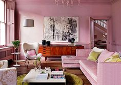 cute pink color that I can live with once in awhile. maybe for a vacation home.