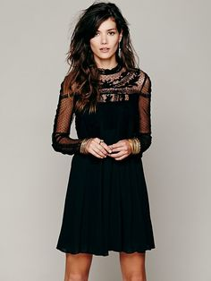 Free People Dress. Sheer Chiffon, could be paired with a chesnut chancy belt to highlight a smaller waist!