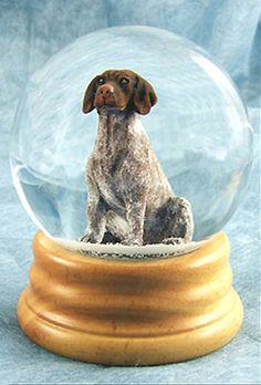 German Short-haired Pointer Dog Musical Water Snow Globe - You've Got a Friend Tune $99.99 at DogLoverStore.com