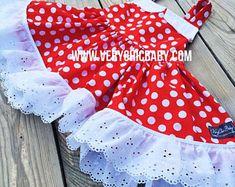 Minnie Mouse Dress Minnie Dress Baby Girls Dress Little Mickey Mouse Dress, Minnie Dress, Pink Minnie, Minnie Mouse, Little Girl Dresses, Girls Dresses, Cream Party Dresses, Minnie Birthday, Birthday Ideas