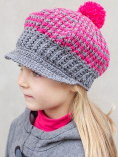 Newsboy's and Girl's Caps   Yarn   Free Knitting Patterns   Crochet Patterns   Yarnspirations