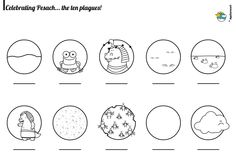 Coloring page 10 plagues Pesach Pinterest