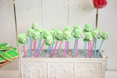 Mad Hatter CAKE POPS from this Shabby Chic Alice in Wonderland Themed Birthday Party Full of Fabulous Ideas via Kara's Party Ideas KarasPartyIdeas.com #aliceinwonderland #...