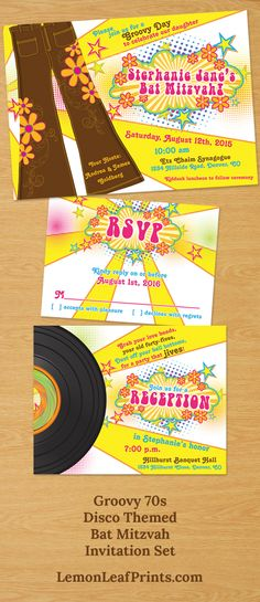 70s Party Invitations Printable 1970s Theme Party Invitation