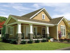ePlans Craftsman Style House Plan – Craftsman Style Cottage With Wrap-Around Porch – 1805 Square Feet and 3 Bedrooms from ePlans – House Plan Code HWEPL77195