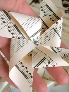 Vintage sheet music pinwheels