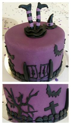 Witch cake Grave Digger Cake, Witch Cake, Jelsa, Cupcake Toppers, Cakes, Halloween, Desserts, Food, Tailgate Desserts
