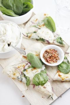 Spinach and Ricotta #Pizza