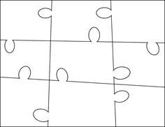 Large 9pc Puzzle Template - free to use