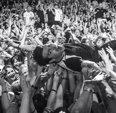 Jordan crowd-surfing on his birthday