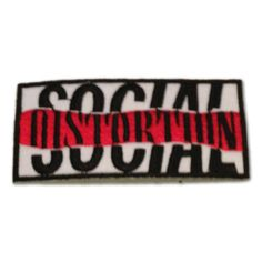 Social Distortion Embroidered Patch, Iron On Applique, Punk rock band Band Patches, Pin And Patches, Iron On Patches, Embroidery Patches, Embroidered Patch, Letterman Jacket Patches, Crust Punk, Social Distortion, Novelty Items