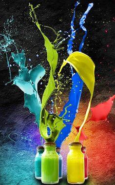 Color Splash From Bottles IPhone Wallpaper Mobile Wallpaper Abstract Wallpaper, Wallpaper S8, Wallpaper For Iphone 4, Beautiful Wallpapers For Iphone, Wallpapers En Hd, Mobile Wallpaper, Graphic Wallpaper, Wallpaper Designs, Painting Wallpaper