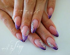 who needs a pick when you have nails with Purple Blingage?!