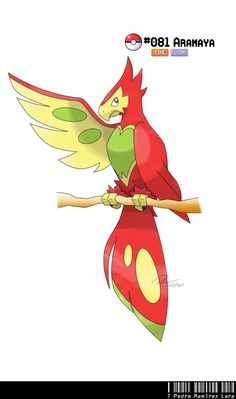 #081 - Ara Fakemon by ~LeafyHeart on deviantART