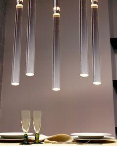 Angelo Mangiarotti 'Plexi' lights from Tecnodelta