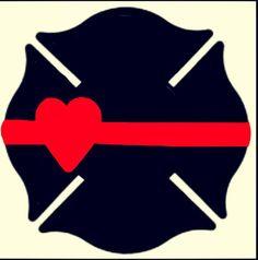 Maltese cross heart thin red line