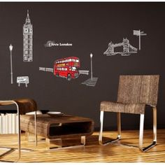 f05867cd515425 London - Mural - Wall Stickers Home Art Deco Wall Decals