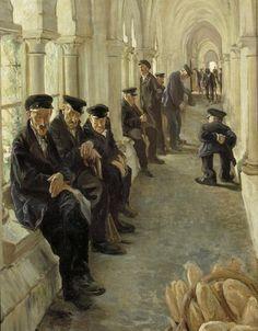 "Los hospitales: la hora de la comida (""Les hospitalisés : l'heure de repas""). Adolphe Gumery. 18?? Localización: Musée d'Orsay (Paris). https://painthealth.wordpress.com/2016/05/05/los-hospitales-la-hora-de-la-comida/"