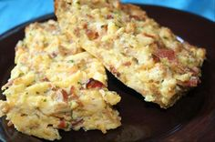 EASY BREAKFAST CASSEROLE    2 cups dry chicken stove top stuffing mix (from the canister)   2 cups milk   1 1/2 cups cubed ham (or use Bob Evans Sausage, cooked, drained well, and crumbled)   6 eggs, beaten   1 cup cheddar cheese, shredded   1/2 teaspoon salt