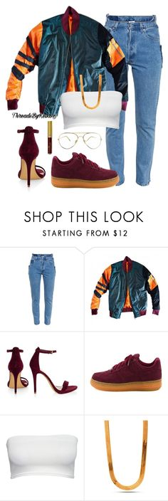 """Old New School 📼💿"" by threadsbykeiko ❤ liked on Polyvore featuring Vetements, NIKE and King Ice"