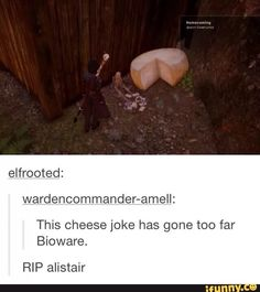 Or maybe the cheese jokes haven't gone far enough....