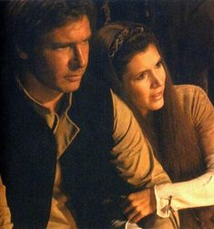 *HAN SOLO (Harrison Ford) & PRINCESS LIEA ORGANA (Carrie Fisher) ~ STAR WARS