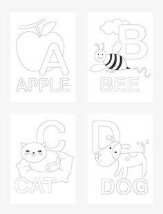 Alphabet Coloring Pages - Mr Printables