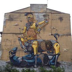 Pixel Pancho in Warsaw Poland | STREET ART URBAN