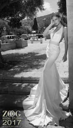 Featured Dress: ZOOG bridal studio; Wedding dress idea. Unique Wedding Gowns, Mod Wedding, Unique Weddings, Wedding Bride, Bridal Gowns, Wedding Dresses, Bridal Pants, Formal Wear, Beautiful Dresses