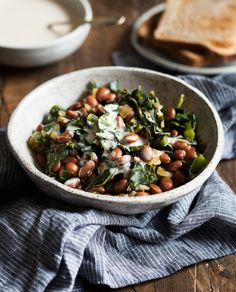 Stewed Beans and Collard Greens
