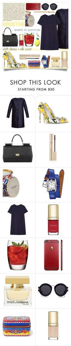 """""""cocktail event"""" by sophie-martina ❤ liked on Polyvore featuring Weekend Max Mara, Dolce&Gabbana, Hermès, Clu, Luigi Bormioli, H&M and Karen Walker"""