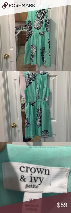CROWN & IVY BLUE PINEAPPLE DRESS Worn once out and gently loved. Any questions, please ask! Don't hesitate to make a fair bid. Crown & Ivy Dresses