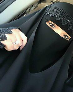 Niqab Fashion, Abayas, Pretty Eyes, Veil, Friends, Cute, Beauty, Muslim, Amigos
