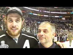 MayorsManor exclusive: on-ice interview with Anze Kopitar and his Dad