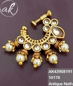 Jewelry For Her, Gold Jewelry, Jewellery, Modern India, Gold Nose Rings, Indian Jewelry, Blouse Designs, Jewelry Design, Brooch