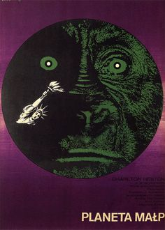 Planet of the Apes | 45 Amazing Vintage Polish Posters Of Classic American Films - Eryk Lipinski 1969