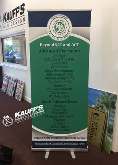 A banner stand is an excellent addition to any office or marketing event. #KauffsSigns #KauffsPrinting #Signs #Banner #Marketing #Lobby #SouthFloridaSignShop #KauffsSocialMedia #CallToday #GraphicDesign #SteveKauff