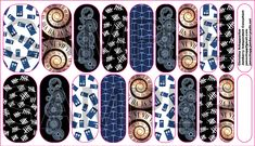 Doctor Who Jamberry Nail Wraps, Dr. Who Jamberry Nail Wraps Designed by Christina Schappacher