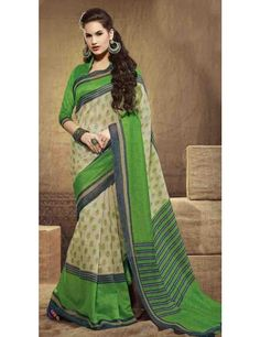 Plushy Green Silk Saree