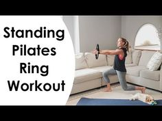 Pilates Ring Exercises, Pilates Workout Videos, Pilates Barre, Workouts, Fitness Nutrition, Fitness Tips, Rings Workout, Body Makeover, Senior Fitness