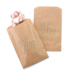 Rustic Vines Treat Bags - Kraft. Available at Persnickety Invitation Studio.
