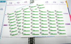 40 Soccer Practice Time Reminder Planner Stickers For Your Life Planner. EC Planner Stickers...